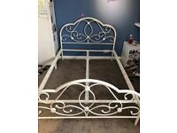 White Double bed frame Unassembled