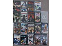 lot 19 Sony psp games - Tekken - GTA - Warhamer - Syphon filter - Prince Persia