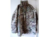 BRITISH ARMY MILITARY ISSUED MTP GORETEX JACKET WATERPROOF OUTDOORS CAMPING, HIKING ETC..: 190/112