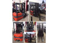 Toyota Electric (Battery) 3 Wheels Forklift Fork Lift 1.5T Mast 4.3M Progressive Hydraulics £3795