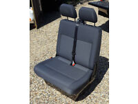 VW T5 Double Passenger Seat and Base in Tassimo Trim