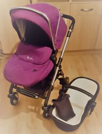 Baby Pushchair & Cot - Silver Cross
