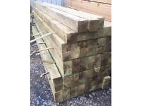 "🌲•New• Pressure Treated Wooden Posts 4"" x 4"" x 2.4M"