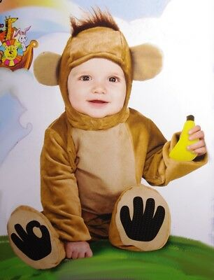 Baby Boys Infant Monkey Halloween Purim Cute Costume 6 12 Months Soft Warm NEW](Boys Monkey Costume)
