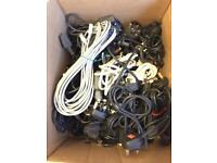 28 Various kettle Cables and vga Cables