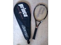 Prince Triple Threat Stealth Oversize Tennis Racket 115 with bag