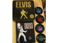 Elvis 224 Page Book & 4 Vinyl Record Coasters