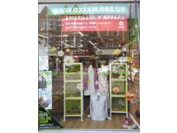 Muswell Hill OXFAM Chothing & Accessories VOLUNTEERS Needed