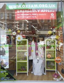 Muswell Hill OXFAM looking for local people to come & help in our shop 4 hours per week