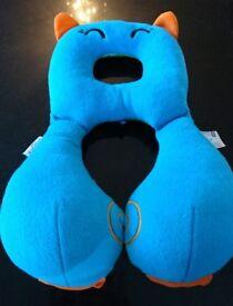 Kids Trunki Blue Cat neck travel support cushion