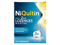 NiQuitin Mint Lozenges, 4 mg, Pack of 72 Lozenges-Nicotine- stop smoking aid