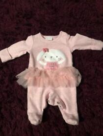 Small baby ballerina sleepsuit