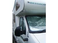 Complete Set of 3 Fiat Ducato 2002-2005 Motorhome Cab Interior Thermal & Privacy Silver Screens