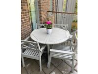 Ikea outdoor dining table and four chairs