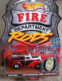 Hot Wheels Cars Fire Department Rods Anglia Panel very rare. Sealed and unused. HotWheels