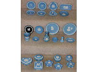 Collection of Wedgewood Blue Jasper ware in superb condition PRICE REDUCED