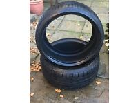225 35 19 x 2 Bridgestone Potenza RE050A* 88Y Nearly NEW Run Flat Tyres