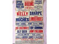 3no Original Boxing Posters