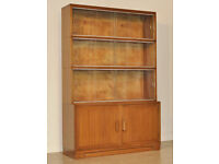 Tall Vintage 'Minty' Mahogany 4 Part Sectional Bookcase With Sliding Glass Doors
