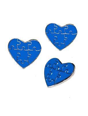 3 Pack Autism Awareness Heart Puzzle Pieces Lapel Hat Pins Raise Awareness 7304](Blue Puzzle Piece Lapel Pin)