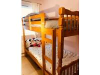 Lovely pine bunk bed - child/adult.