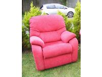 CAN DELIVER - RED G-PLAN ARMCHAIR IN GREAT CONDITION - PURCHASED FROM FURNITURE VILLAGE