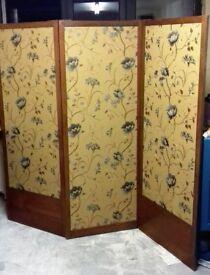 Antique Vintage 1920s dressing screen / room divider, ideal shop, cafe or home