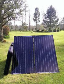 Great XMAS PRESENT! TITAN ENERGY UK FOLDING SOLAR PANEL KIT , CARAVANS, MOTORHOMES