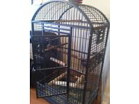 montana cage, ideal for macaw african grey amazon, excellent condition, hardly used