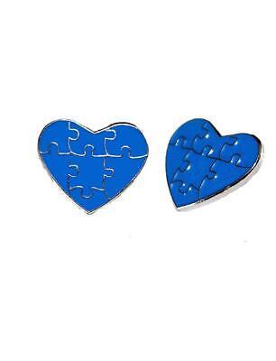 2 Pack Autism Awareness Heart Puzzle Pieces Lapel Hat Pins Raise Awareness 7304](Blue Puzzle Piece Lapel Pin)