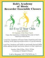 Bob's Music Downtown Pembroke- Recorder Ensemble