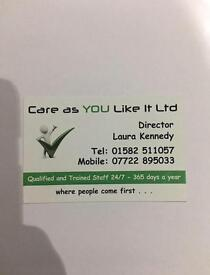 Registered Care managers and care workers