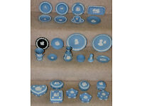 Collection of Wedgewood Blue Jasper ware in superb condition