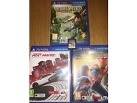 PS VITA WITH 4 GAMES IN GOOD CONDITION! RARE AND CHEAP