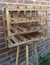Handmade oak wine rack