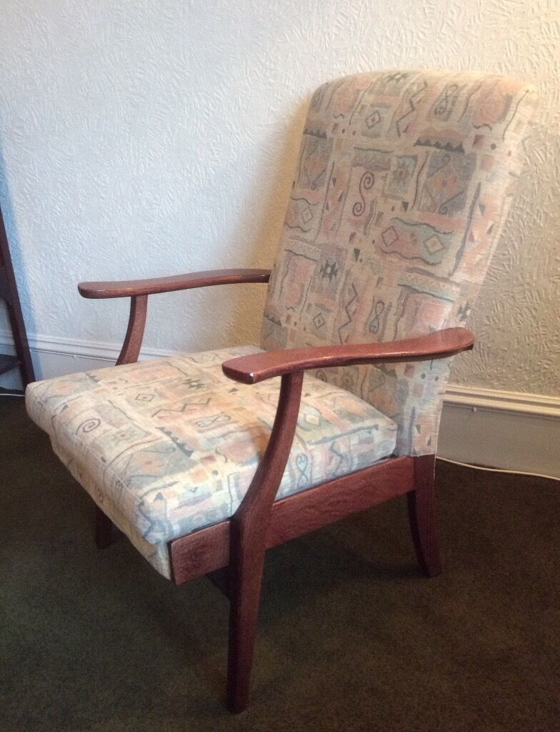 Parker Knoll armchairin AberdeenGumtree - Parker Knoll open armchair dating from late 1950s/early 1960s. Solid wood arms and frame. Re upholstered by Glencraft, Aberdeen some years ago. Very comfortable