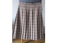 Ladies brown pleated skirt size 14
