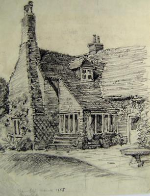 LANDSCAPES OLD HOUSE RUISLIP  R ANDREW-JONES CHALK 1968