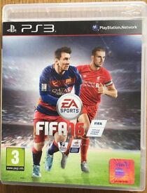 PS3 FIFA 16 game.
