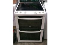 6 MONTHS WARRANTY Zanussi AA energy rated, 60cm, double oven electric cooker FREE DELIVERY