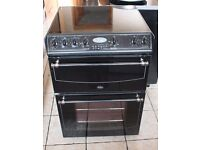 Black Belling 60cm, double oven electric cooker 4 MONTHS WARRANTY