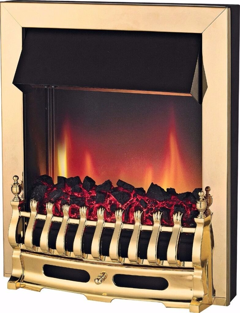 electric inset fire adam arno coal effect from argos still in