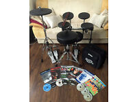 Gibraltar Practice Pad Kit on Rack, Yamaha Double Bass Pedal and Hi-Hat Stand + Books & CD's