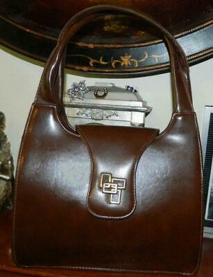 1950s Handbags, Purses, and Evening Bag Styles VINTAGE Lanza 1950's-60s Original American Vinyl Retro Handbag $93.61 AT vintagedancer.com