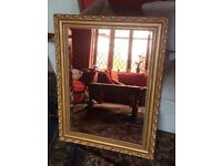 Rose Glass Wall Mirror