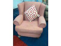 Quality Fabric*high wingback WARWICK chair*Pink*