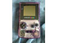 gameboy color purple console
