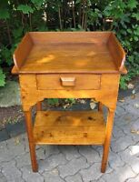 Primitive Pine Washstand or Occasional Table
