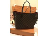 Louis Vuitton neverfull handbag mm damier ebene