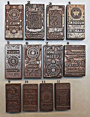 """CIGARETTE CARDS"" (VARIOUS BRANDS) PRINTING BLOCKS."